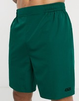 Asos 4505 4505 training shorts with quick dry in dark green