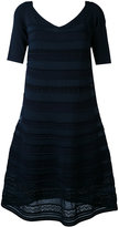 D-Exterior D.Exterior - embroidered flared dress - women - Cotton/Polyamide/Polyester/Viscose - M