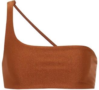 JADE SWIM Exclusive to Mytheresa a Apex one-shoulder bikini top