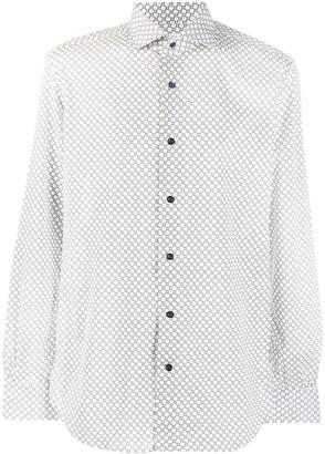 Mazzarelli Geometric-Print Long Sleeved Shirt