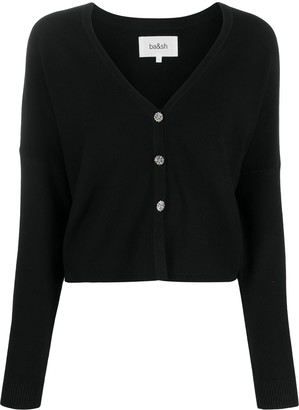 BA&SH Cropped Knit Cardigan