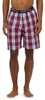 Red Herring Dark Red Check Pyjama Shorts