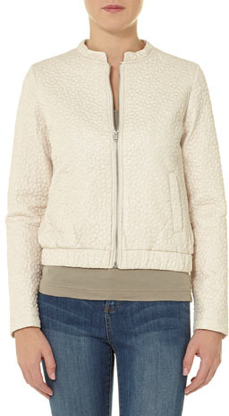 Dorothy Perkins Ivory embroidered bomber
