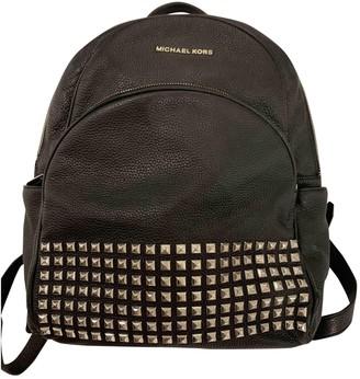 Michael Kors Abbey Black Leather Backpacks