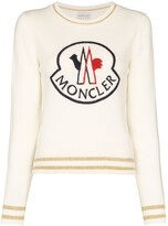 Moncler logo-embroidered jumper