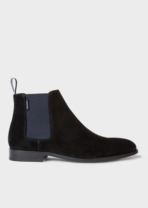 Paul Smith Men's Black Suede 'Gerald' Chelsea Boots