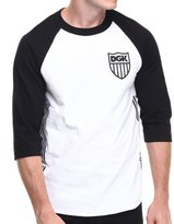 DGK Men's Crest 3/4 Raglan LS T Shirt White M