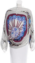 Emilio Pucci Abstract Print Silk Poncho