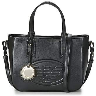 Emporio Armani FRIDA EAGLE SMALL TOTE women's Handbags in Black