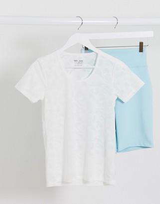 ASOS 4505 t-shirt in sheer camo