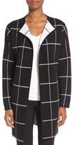 Nordstrom Women's Cashmere Blend Windowpane Sweater Jacket