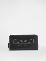 DKNY Logo Zip Around Wallet
