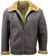 Infinity Men's Ginger B3 Shearling Sheepskin World War 2 Bomber Leather Flying Jacket 3XL