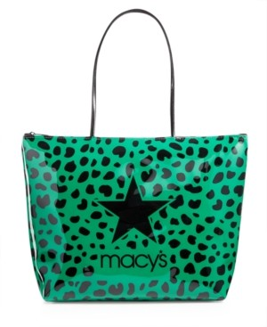 Dani Accessories Green Leopard Logo Tote Bag, Created for Macy's