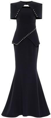 Safiyaa Gilda stretch-crepe fishtail gown