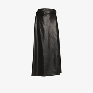 Markoo High Waist Faux Leather Skirt