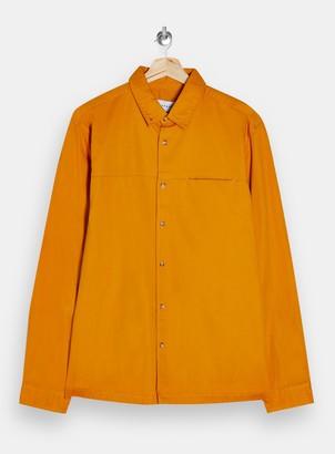 Topman Light Orange Twill Slim Shirt