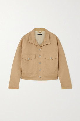 The Range Cropped Linen And Cotton-blend Twill Jacket - Beige