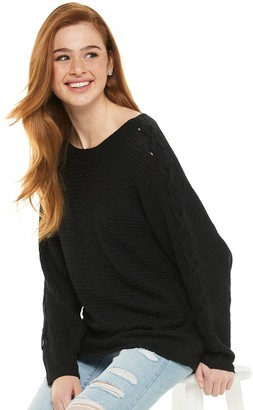 American Rag Juniors' Dolman Lace Up Top