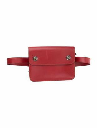 Hermes Vintage Pochette Green Waist Bag Rouge