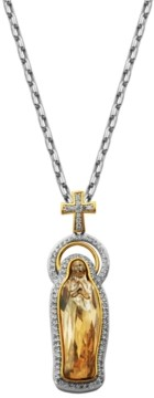 PRIME ART & JEWEL Swarovski and Cubic Zirconia Religious Pendant in Bronze