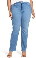 NYDJ 'Marilyn' Stretch Straight Leg Jeans (Arabian Sea) (Plus Size)