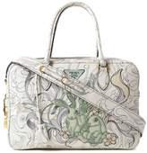 Prada Glace Calf Rabbit Handbag