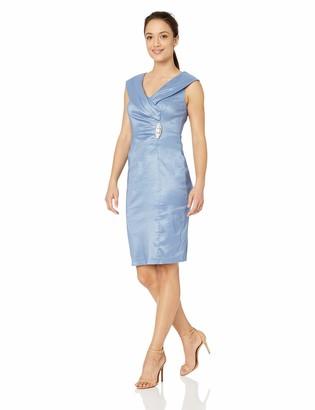 Jessica Howard JessicaHoward Women's Sleeveless Surplice Sheath Dress