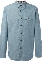 Burberry buttoned chest pocket shirt