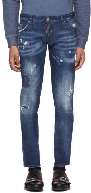 DSQUARED2 Navy Regular Clement Jeans