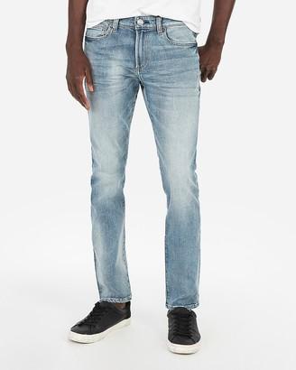 Express Super Skinny Medium Wash Hyper Stretch Jeans