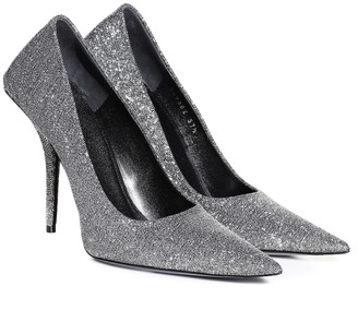Balenciaga Square Knife glitter pumps