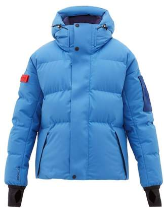 Moncler Taku Hooded Quilted Down Ski Jacket - Mens - Light Blue
