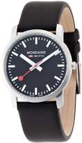 Mondaine A672.30351.14SBB Women's Official Swiss Railways Leather Strap Watch