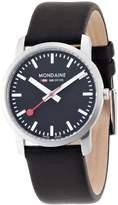 Mondaine A672.30351.14SBB Women's Official Swiss Railways Leather Strap Watch