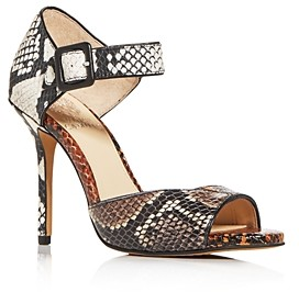 Vince Camuto Women's Sessen Mixed Snake-Embossed High-Heel Sandals