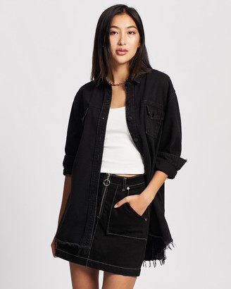 All About Eve Denim Shacket