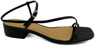 Bamboo Women's Sandals BLACK - Black Thin-Strap Square-Toe Sandal - Women