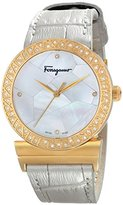 Salvatore Ferragamo Women's FG2150014 GRANDE MAISON Analog Display Quartz Silver Watch