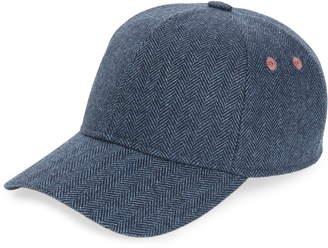Ted Baker Ricky Herringbone Wool Blend Baseball Cap