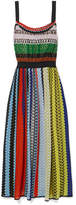 Missoni Crochet-knit Midi Dress - Green
