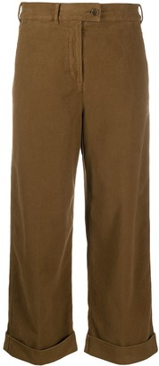 Aspesi Cropped Wide-Leg Trousers