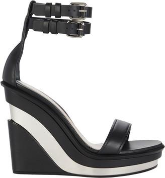 Alexander McQueen Trompe L'oeil Wedge Sandals