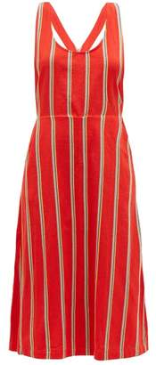Ace&Jig Willa Striped Cotton Pinafore Dress - Womens - Red