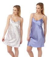 armona LILAC & PAISLEY Chemise Twin Pack