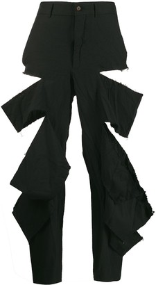 Comme des Garcons Distressed Cropped Trousers
