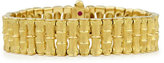 Roberto Coin 18k Gold Bamboo Bracelet with Diamond Clasp, Small