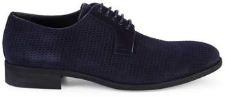 a. testoni Perforated Suede Derbys