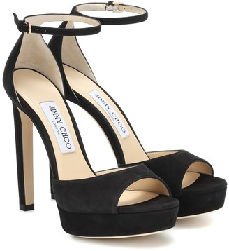 Jimmy Choo Pattie 130 suede platform sandals