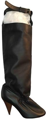 Celine Soft Ballerina Black Leather Boots